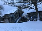 Cottage & Stables in snow