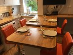 Solid oak dining area