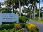 Entrance to private South Seas Resort