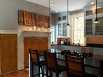 Stainless Steel and Granite Gourmet Kitchen