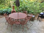 Outdoor Dining Patio with Charcoal Grill
