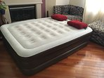 Comfortable queen-size double-height air-mattress for large groups
