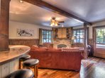 Spacious, open living and bar area provides a fantastic place for entertaining