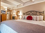 Master suite with a king or queen bed.