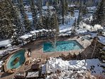 Antlers outdoor pool and hot tub area.
