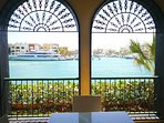 View from our terrace to the Marina of Cap Cana