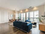 Bright and spacious living room for your family/friends