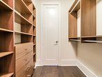 Large His and Her closet in master bedroom