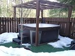 Come sit in our brand new hot tub! (new photo coming soon!)
