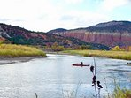 Bring your kayak to discover Abiquiu Lake.