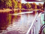 A summers day on the houseboat