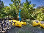Bikes and kayaks free of charge for guests