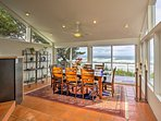 This gorgeous dining room provides a front row seat to the Pacific Ocean.