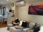 Newly installed LG air-conditioning to keep you cool and warm all seasons.