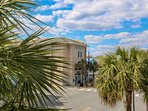 Folly Beach City Hall is just a stone throw away from Shangri-La.