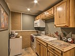 The kitchen is well-equipped with updated appliances.