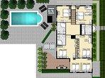 Main House Floor plan Upstairs
