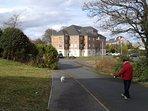 Lawnfield Grove cul de sac with parking area