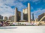 Toronto City Hall is a short walk away