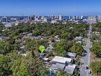 Aerial view of 6th Street duplex.  Blocks away from the heart of historical downtown Sarasota.