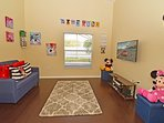 Play room with xBox and Nintendo consoles