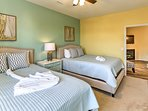 Kids will love the 2 queen beds in the second bedroom.