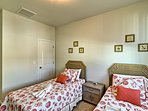 Kids will love the 2 twin beds in the third bedroom.
