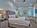 The Master Bedroom boasts a king bed and private sitting area.