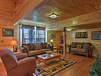 This 2-bedroom, 1-bathroom cabin in Sevierville comfortably sleeps 4.
