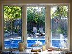 Bay window overlooking gardens
