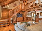 This cabin boasts 4,700 square feet of well-appointed living space.