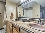 Utilize the double vanity and shower/tub combo featured in the master en-suite.