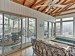 Perched on Ski Mountain, this home offers views from almost everywhere.