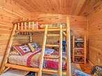 Kids will enjoy the twin-over-full bunk bed in the third bedroom.