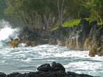The dramatic, rugged, stunning shoreline found along the Hana Highway.