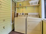 Keep your clothes clean with the washer and dryer!