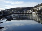 The bridge that connects East and West Looe.