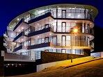 building exterior - award wining design at night