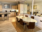 spacious open plan dining