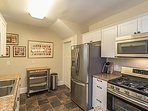 Newly remodeled kitchen allows you to cook at home.