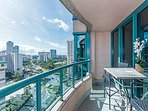 Condo Lanai with East Oahu and Diamond Head View