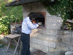 baking in the brick oven