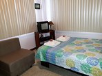 Bedroom 2: sleeps 3. 1 full bed and 1 single bed sofa