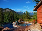 Soak in these incredible hot tubs overlooking the town of Banff and the Rockies