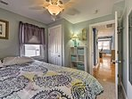 Two guests will sleep well in this queen bed!