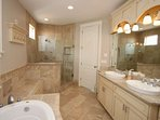 Amazing master bath with high end finishes.