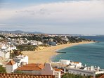 Albufeira's beautiful beach - the view from the apartment