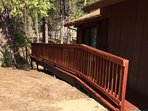 Wheelchair accessible ramp to deck