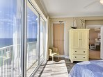 Master Bedroom with view of the Gulf