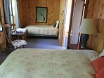 2nd bedroom with Queen and twin bed